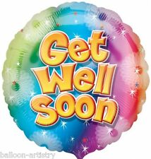 "18"" Get Well Colour Stars Party Round Foil Balloon"