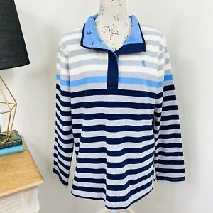 Thomas Cook Womens Isabella Rugby Jumper Stripe Collared Size 16 NWT RRP $109