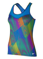 NIKE Pro Hypercool Frequency Racerback BLUE Tank Top Tennis Run NEW Women XS S M