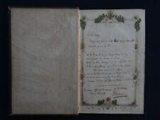 Poème Manuscrit de JASMIN, Poète Agenais, en hommage à Mme. Clara Tudier - 1842