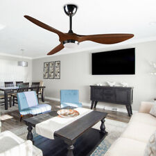 52''Three-Blade Ceiling Fan Remote Control Modern Hand-painted 6 Speed Noiseless