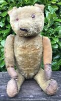 "Large 27"" Old Vintage Antique Circa Early 1900s Teddy Bear Full Of Character"