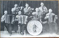 Accordion/Dance Orchestra/1915 Music/Band Advertising Postcard