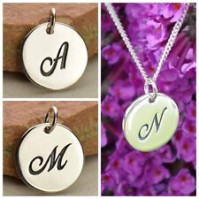 925 Sterling Silver Cursive Charm Initial Monogram Pendant Personalized Necklace
