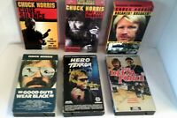 Chuck Norris VHS Lot 6 Tapes Martial Arts Kung Fu Action Classic
