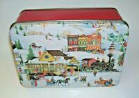 Old World Village Tin Box
