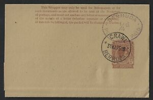 BERMUDA NEWSPAPER WRAPPER GVI USED CRAWL 1951 DISPLAY QUALITY ITEM