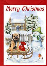"Border Terrier Dog A6 (4"" x 6"") Christmas Card - Blank inside - by Starprint"