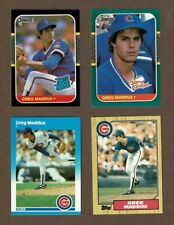 New listing 1987 Greg Maddux Chicago Cubs Rookie Card Lot (4)