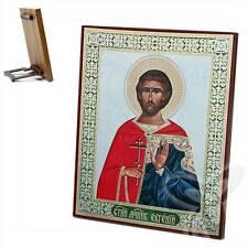 Icona Eugen santo martire legno 15x18 Евгений Святой мученик икона