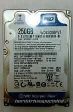 WD Scorpio Blue WD2500BPVT-22JJ5T0 250GB SATA Drive DCM:SHMVJHB DCX:JJ01J9W5A