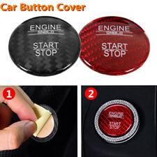 Carbon Fiber Car Start Stop Button Cover Set For Mercedes Benz C Class GLC C200l