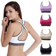 Fashion Lady Women Padded Bra Top Athletic Vest Gym Fitness Sports Yoga Stretch