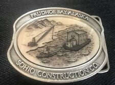 Kiana Alaska Mint 1985 Prudhoe Bay Alaska Belt Buckle Sohio Construction