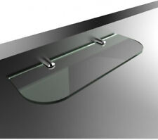 300mm 12 Approx by 100mm 6mm Thick Toughened Safety Glass Shelf With Curved E
