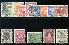 Newfoundland 1933 KGV set complete very fine used. SG 236-249. Sc 212-225.