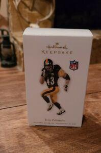 2010 Hallmark Keepsake CHRISTMAS Ornament TROY POLAMALU Pittsburgh Steelers MIB