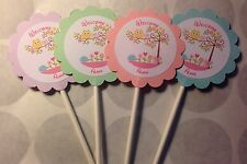 Happi Tree Owl Baby Shower Customized Cupcake Toppers Picks 12 count