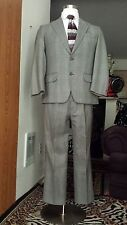 GORGEOUS MEN HANSEN & NISSEN PLAID Pinstripe Suit 38R