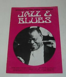 1971 JAZZ & BLUES UK MAGAZINE SATCHMO NEW YORK FUNERAL LESTER YOUNG ROY PORTER