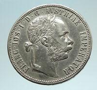 1878 AUSTRIA FRANZ JOSEPH I Silver Mint State Silver Florin Vintage Coin i76638