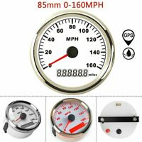 85mm GPS Waterproof Speedometer Gauge 0-160MPH For Car Truck Motorcycle Marine