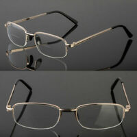 NEW BIFOCAL READING CLEAR GLASSES MEN WOMEN'S QUALITY 1.25~4.00 METAL FRAME USA