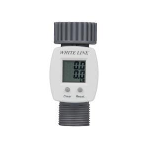 Digitaler Wasserzähler mit Hahnanschluss und LCD-Anzeige