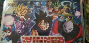 Dragon Ball Super Card Game Tournament Winner Playmat Bandai Cross Worlds Sealed
