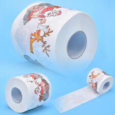 Santa Claus Deer Christmas Toilet Roll Paper Tissue Living Room Decor Funny S&K