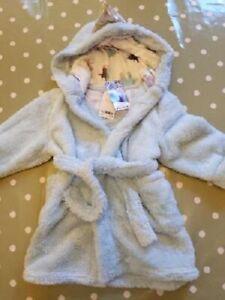 Next Girls Frozen 2 Blue Sparkly Snuggle Fleece Dressing Gown 2-3 Yrs BNWT!