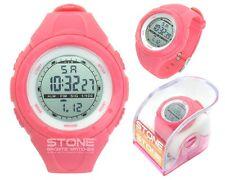Ladies Sports Waterproof Watch Girls Running Swimming Pink Watch STONE® Brand