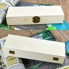 Handmade Wooden Hollow Pencil Pen Case Storage Box Organizer White Base Gift