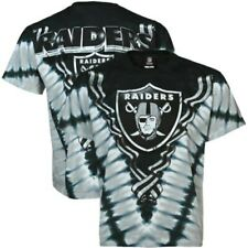 "Oakland Raiders ""V"" Design Tie Dye Shirt by Liquid Blue - Adult Medium"
