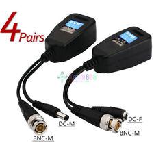 4 Set KG10 CCTV Coax BNC Video Power Balun Transceiver to CAT5e 6 RJ45 Connector