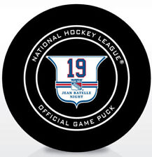 JEAN RATELLE Official RETIREMENT Game Puck 2/25/18  NEW YORK RANGERS