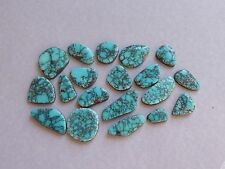 Natural Lone Mountain Spiderweb Turquoise Cabochons, Matching Cabochons