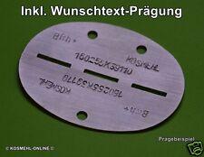 Con il vostro desiderio impresso: WH wk2 Alluminio Rilevamento marca (repro) DOGTAG WWII