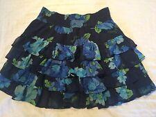 HOLLISTER Ladies Rara Mini Skirt - Size XS / 6 - Blue Floral Summer Beach Party