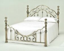 LAVISH FLORENCE BRASS EFFECT BED FRAME IN KING SIZE 5'FT***FREE DELIVERY***