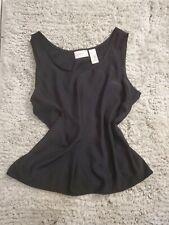 Liz Claiborne Black chic suit shell Nwot Large