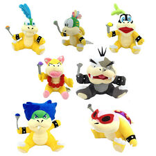 "7X New Super Mario Bros. Koopalings Plush Ludwig Roy Iggy Larry Koopa Toy 6"""