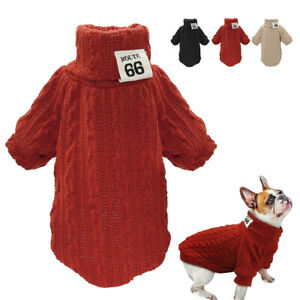 Dog Sweaters Winter Dog Clothes for Small Dogs Warm Chihuahua Pet Vest Coat XS-L