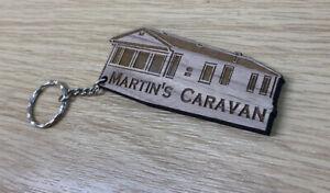personalised Holiday Home Static Caravan Keyring Warming Gift New Home Keepsake