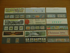 1986 YEAR SET OF 9 PRESENTATION PACKS(Nos168 to 176)+(ERROR 168) IN MINT COND