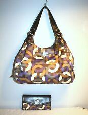 Coach Madison 14420 Signature Optic Chainlink Maggie Shoulder Bag & Wallet Set