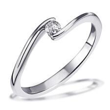 Goldmaid Ring Solitär Verlobungsring 585 Weißgold 1 Brillant Echtschmuck 0,10 ct