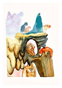 Divine Comedy Inferno 22 by Salvador Dali A4 Art Print