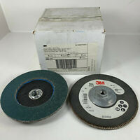 "3M Abrasive Flap Disc 566A Type 27 Giant 7"" X 5/8-11"" Hole 80 Grit QTY (5) Disc"