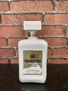 Rare Collectable Disaronno Amaretto Velvet Liqueur Empty White 500ml Bottle